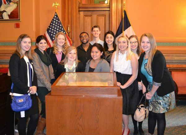Catt Center staff and students with legislators.