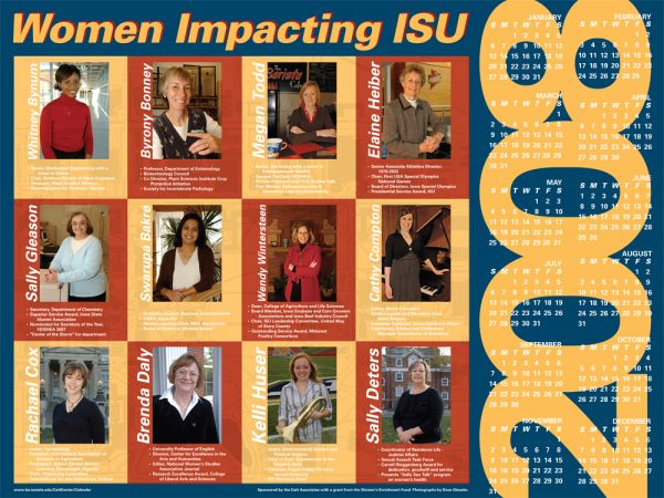 2008 Women Impacting ISU Calendar