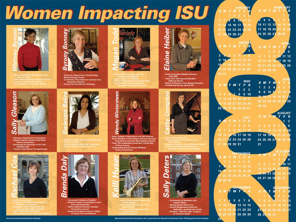 2008 Women Impacting ISU Calendar