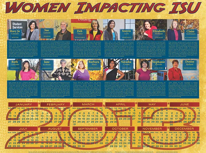 2013 Women Impacting ISU Calendar
