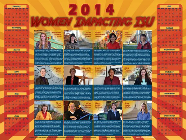2014 Women Impacting ISU Calendar
