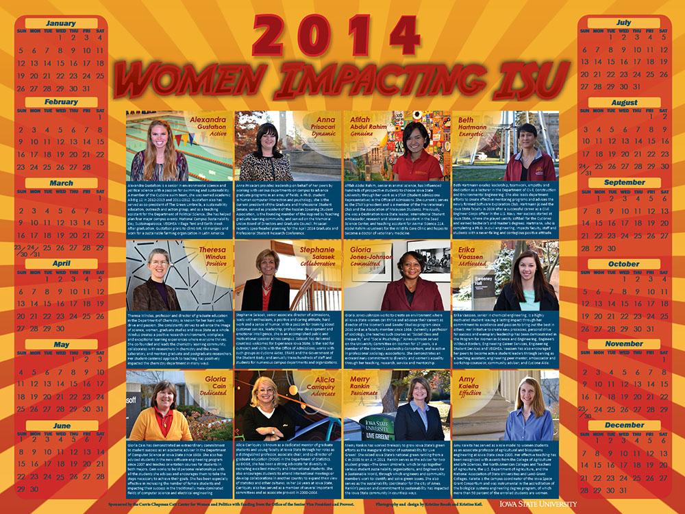 2014 Women Impacting ISU Calendar