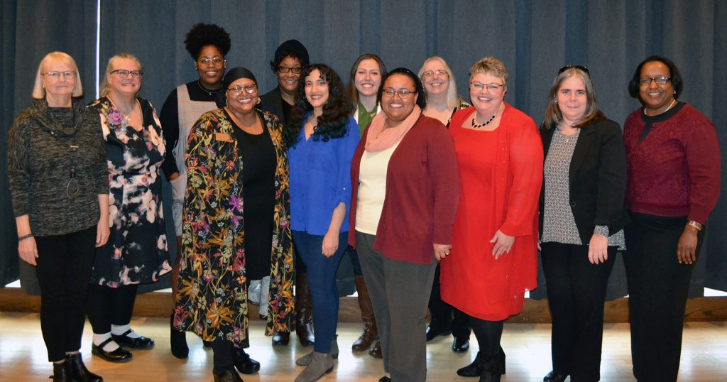 2019 honorees, from left: Linda Marticke, Laura Bestler, Tia Carter, Carmen Flagge, Brenda Jones, Ihssan Ait Boucherbil, Zoey Shipley, Denise Williams-Klotz, Amy Slagell, Michelle Roling, Mayly Sanchez, and Connie Hargrave.