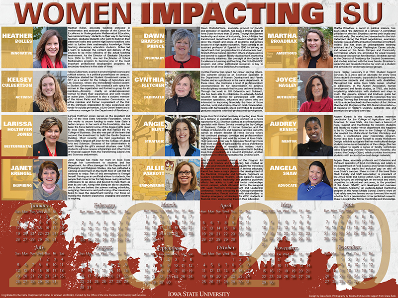 2020 Women Impacting ISU calendar