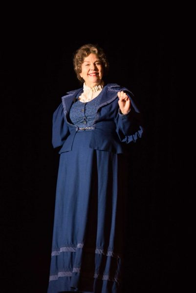 "Jane Cox performed her one-act play, ""The Yellow Rose of Suffrage."""
