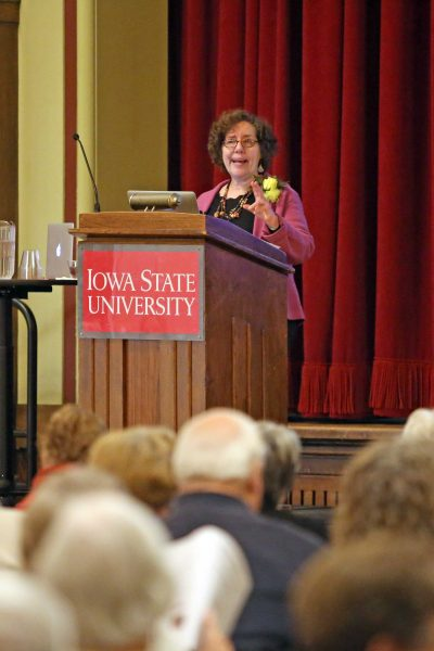"Elaine Weiss presented the Spring 2020 Mary Louise Smith Chair lecture, ""The Woman's Hour."""